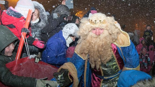 Los Reyes Magos llegan a la nieve