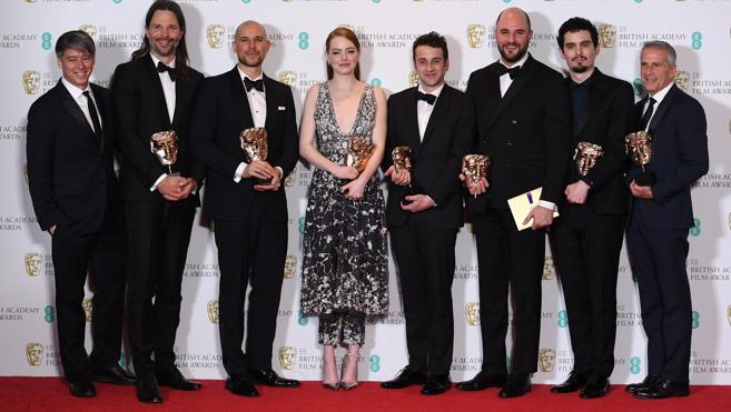 'La La Land' gana el Bafta para la mejor película; Stone, el de mejor actriz