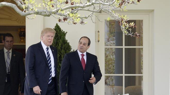 Trump declara su apoyo al presidente egipcio y promete más cooperación militar