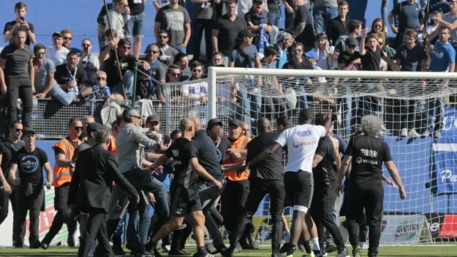 La violencia suspende el Bastia-Lyon