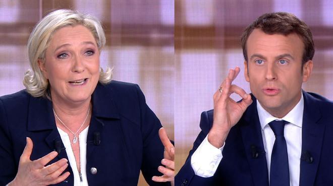 Macron cree necesario debatir con Le Pen «aunque uno se ensucie un poco»