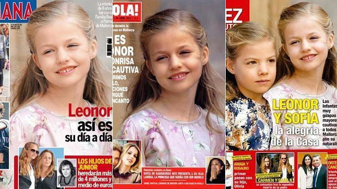 Leonor, protagonista de las revistas del corazón