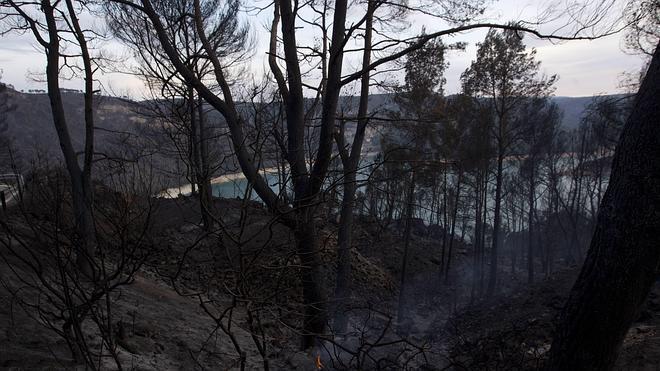 Cuatro años de cárcel al peón forestal que prendió fuego al monte en Chelva en 2012