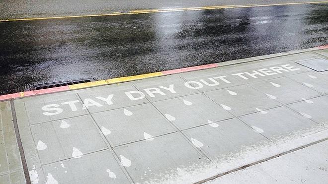 'Rainworks', el arte que sólo se ve cuando llueve