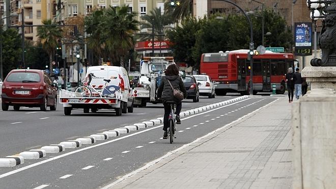 El carril bici conectará la avenida del Cid con la plaza de San Agustín de Valencia