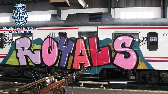 Detenidos 20 grafiteros por daños en trenes valorados en casi dos millones