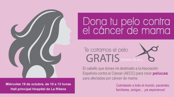 Dona tu pelo contra el cáncer de mama