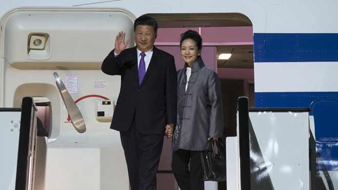El presidente chino y su esposa piden una paella en Maspalomas