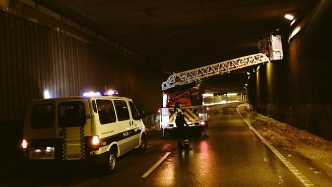 Gota fría en Valencia | Cortado el túnel del Saler por desprendimientos