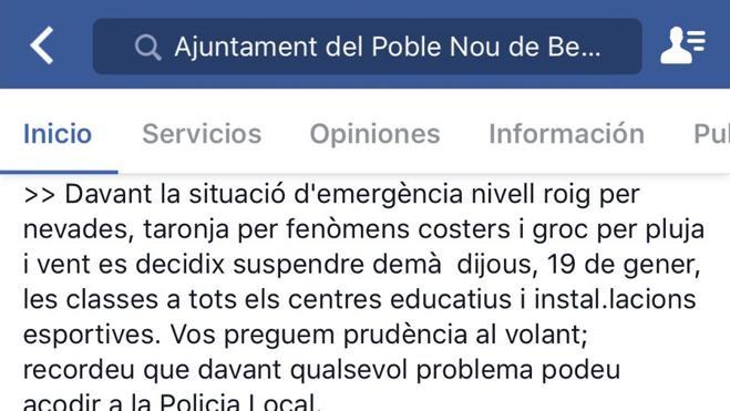 Listado completo de los colegios que han suspendido sus clases en la Comunitat Valenciana