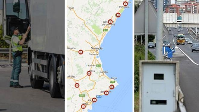Los 10 radares que más multan en la Comunitat Valenciana