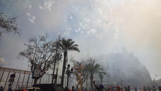 El domingo 26 de marzo se disparará en Valencia la mascletà aplazada por la lluvia