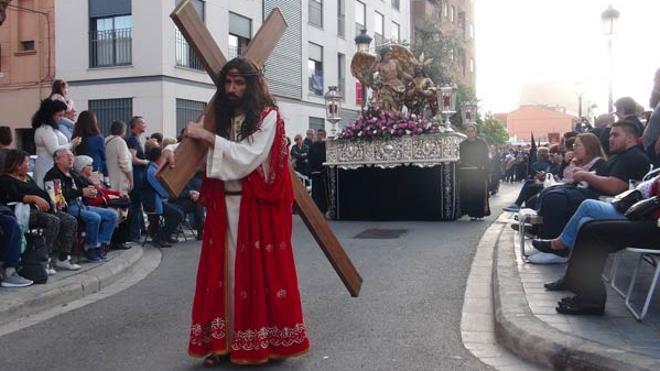 Lleno absoluto en la procesión del Santo Entierro de la Semana Santa Marinera