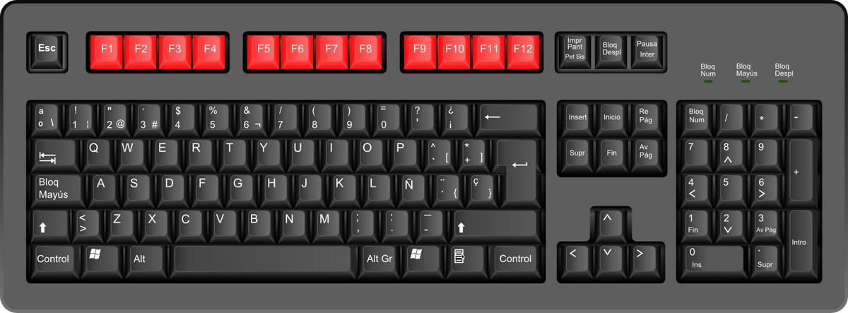 Para qué sirve cada una de las teclas de función de nuestro teclado
