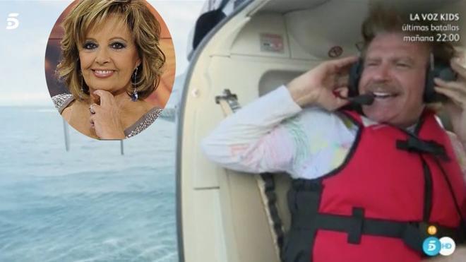 La razón por la que Bigote Arrocet no nombró a María Teresa Campos al saltar del helicóptero