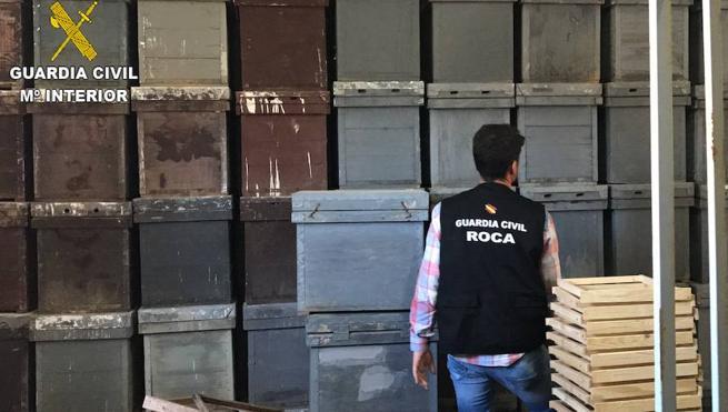 La Guardia Civil esclarece el robo de 223 colmenas en Valencia y Murcia