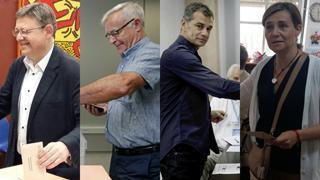 Fotos de los políticos valencianos votando en el 26J